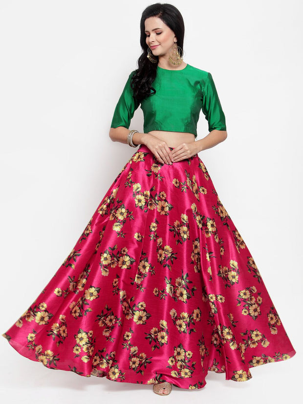 Get Glamr Women Floral Fully Stiched Lehenga Choli