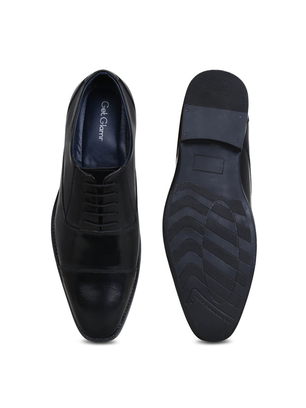 Men's Black Genuine Leather Oxford Shoes