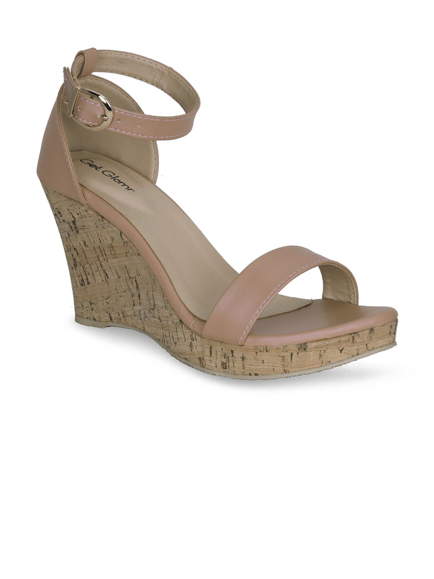Women Classic Pink Wedge Sandals