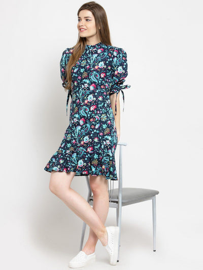 Get Glamr Women's Cotton Print Short Dress