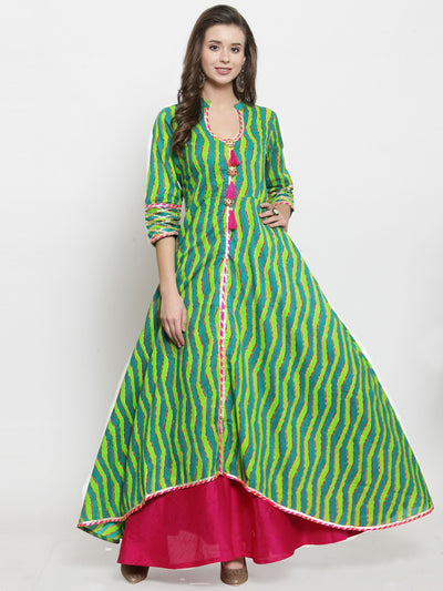 Get Glamr Women's Cotton Anarkali Kurta