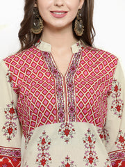 Get Glamr Women's Cotton Straight Kurta