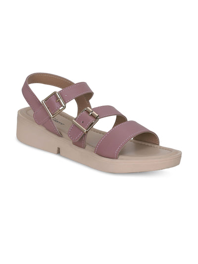 Women Nude Casual Designer  Solid Flat Sandals