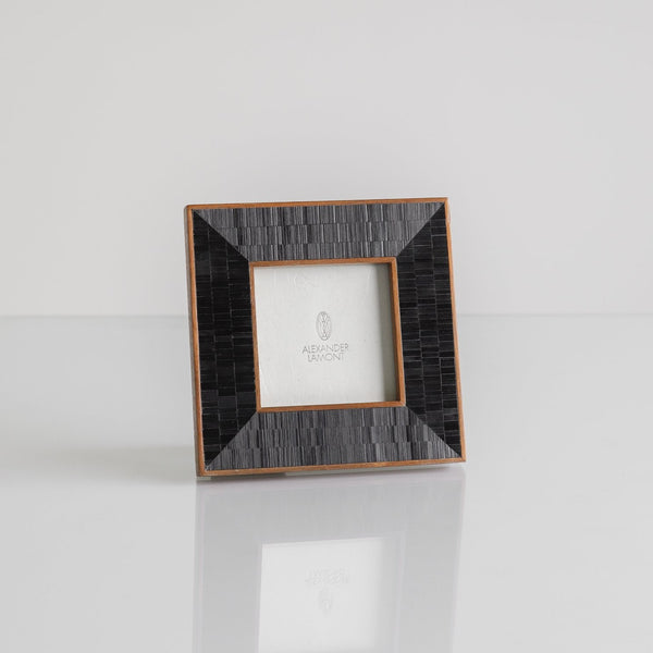 "Mirage Picture Frame, Small, 3"" x 3"", Reflection Straw Ebony"