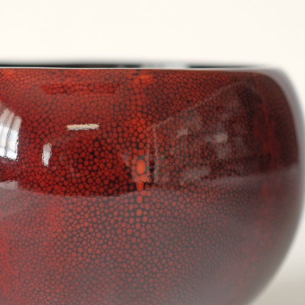 Boshu Bowl - Red Shagreen Lacquer, S