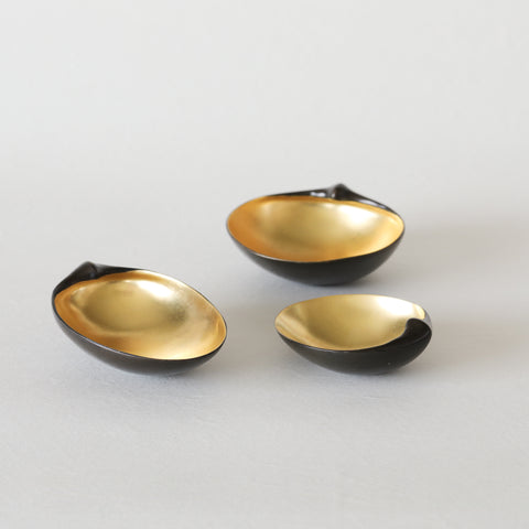 Set of 3 Gilded Scallops