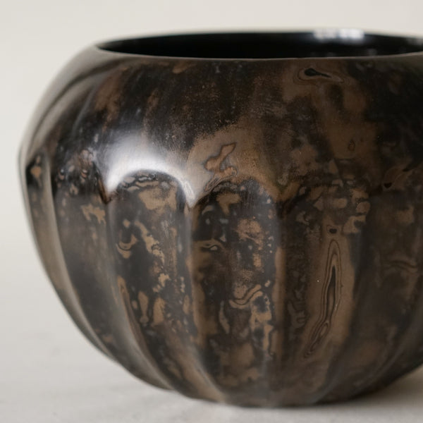 Ribbed Bowl, Black Bronze
