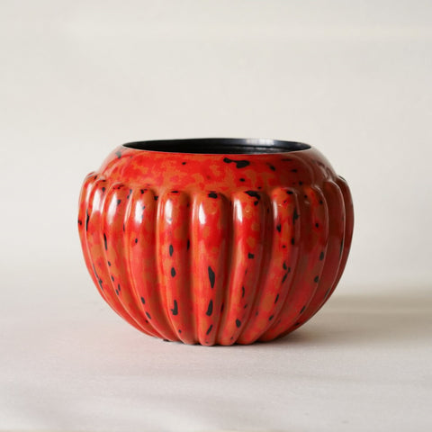 Ribbed Bowl, Red