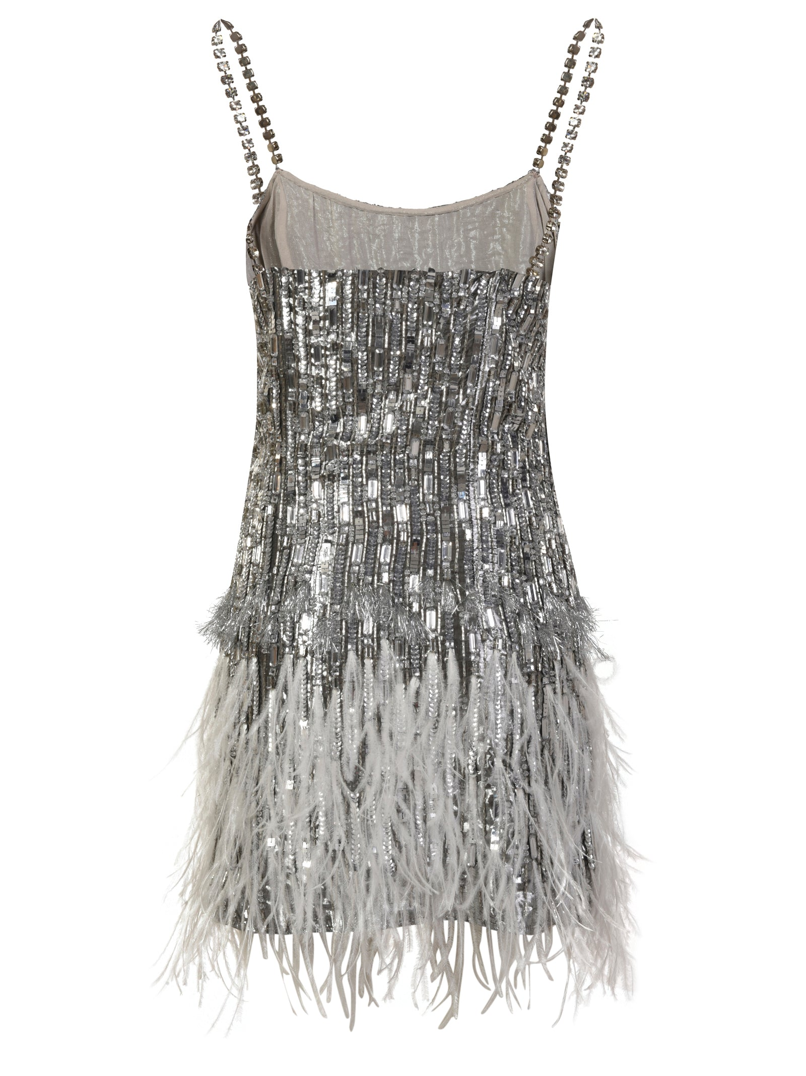 Feather Embroidered Dress