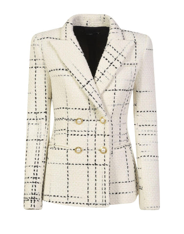 White double breasted tweed jacket - NEW IN