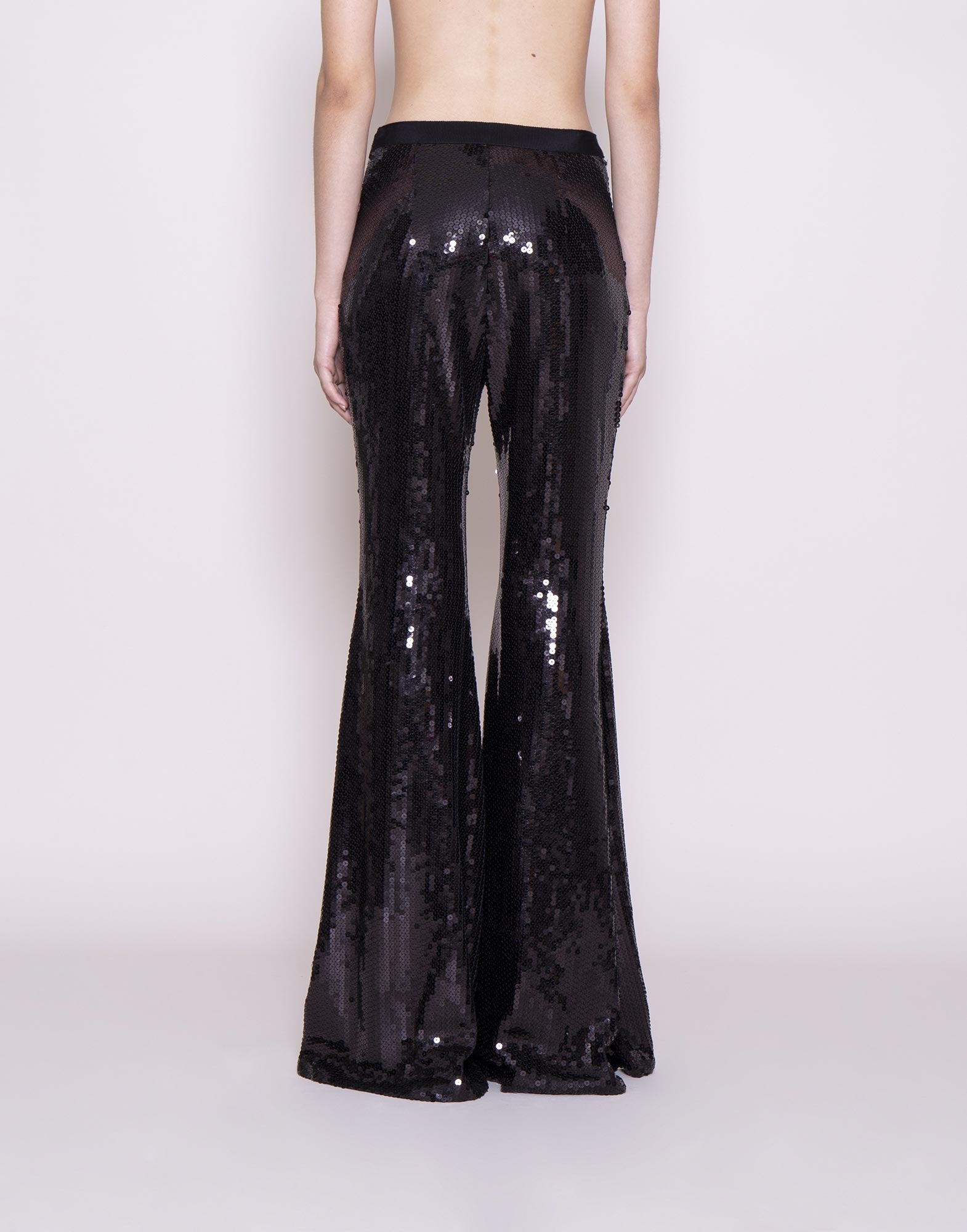 Sequins flared trousers
