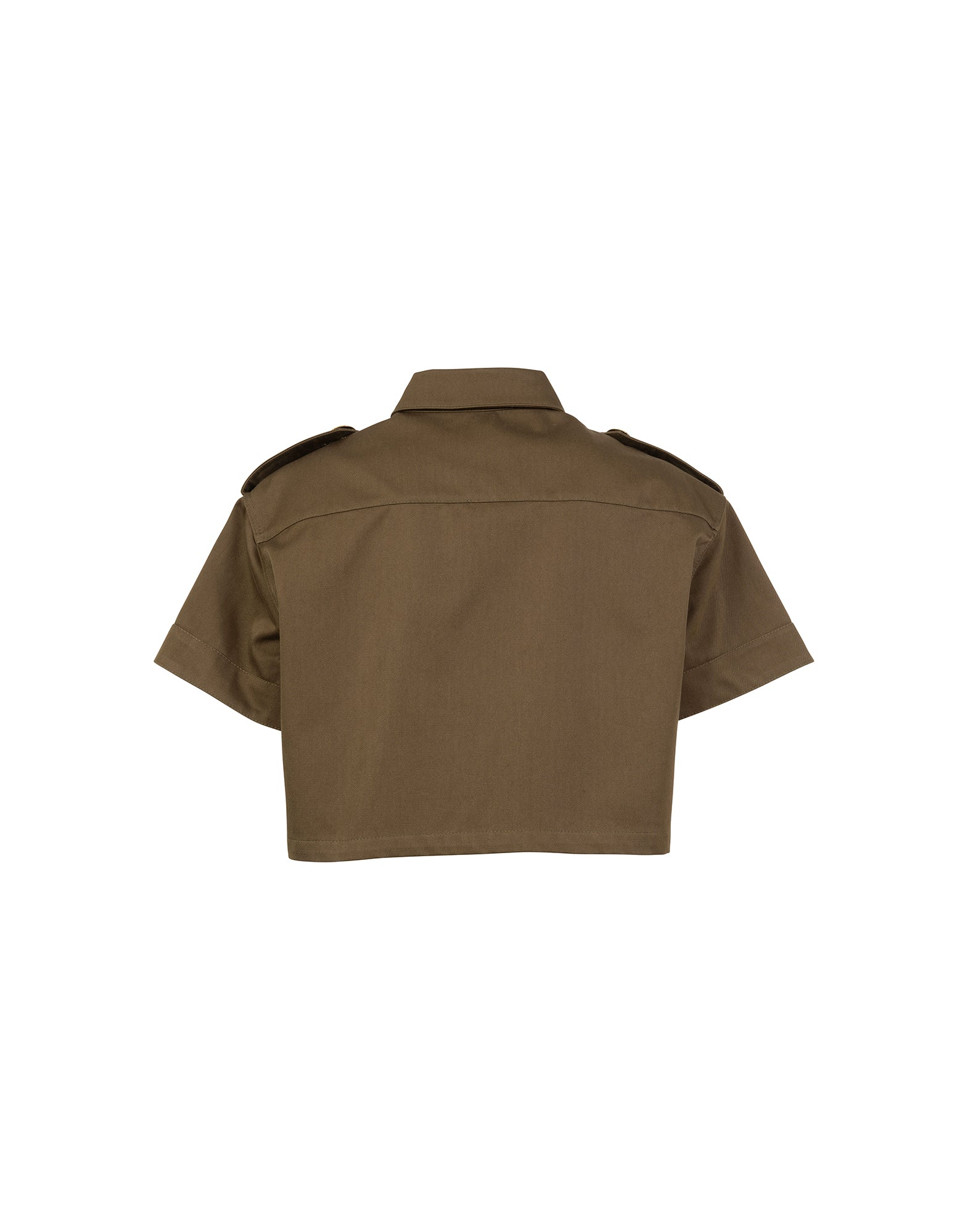Cropped shirt in canvas - NEW COLLECTION