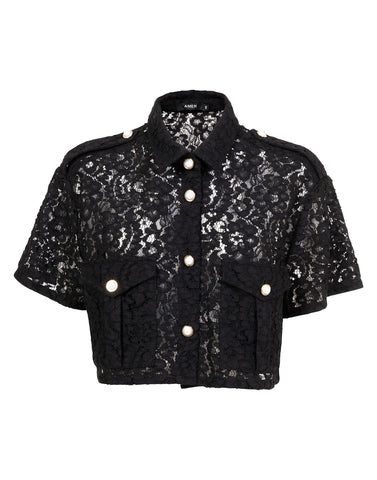 Cropped shirt in lace - NEW COLLECTION
