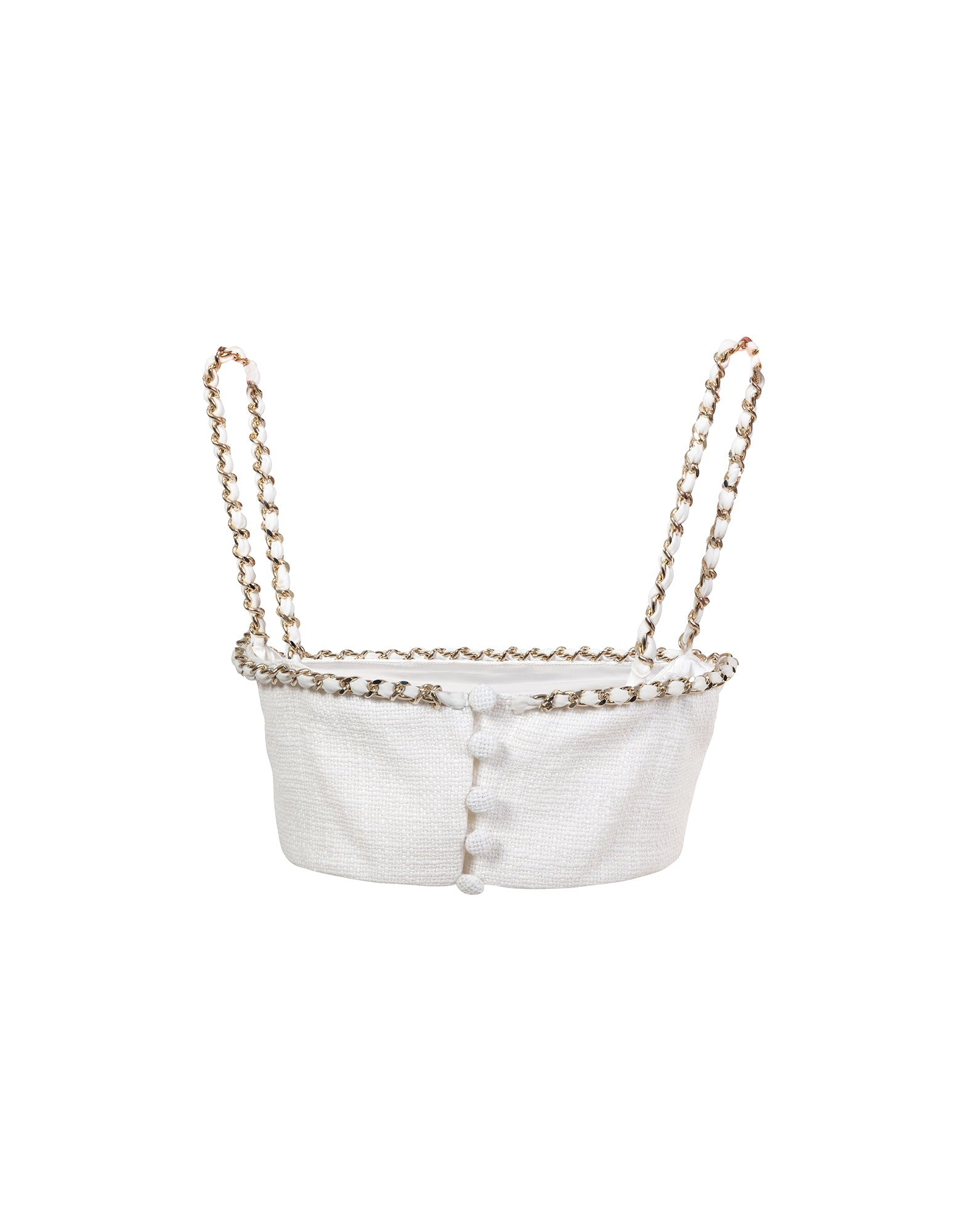 Cotton bralette with chain - NEW COLLECTION