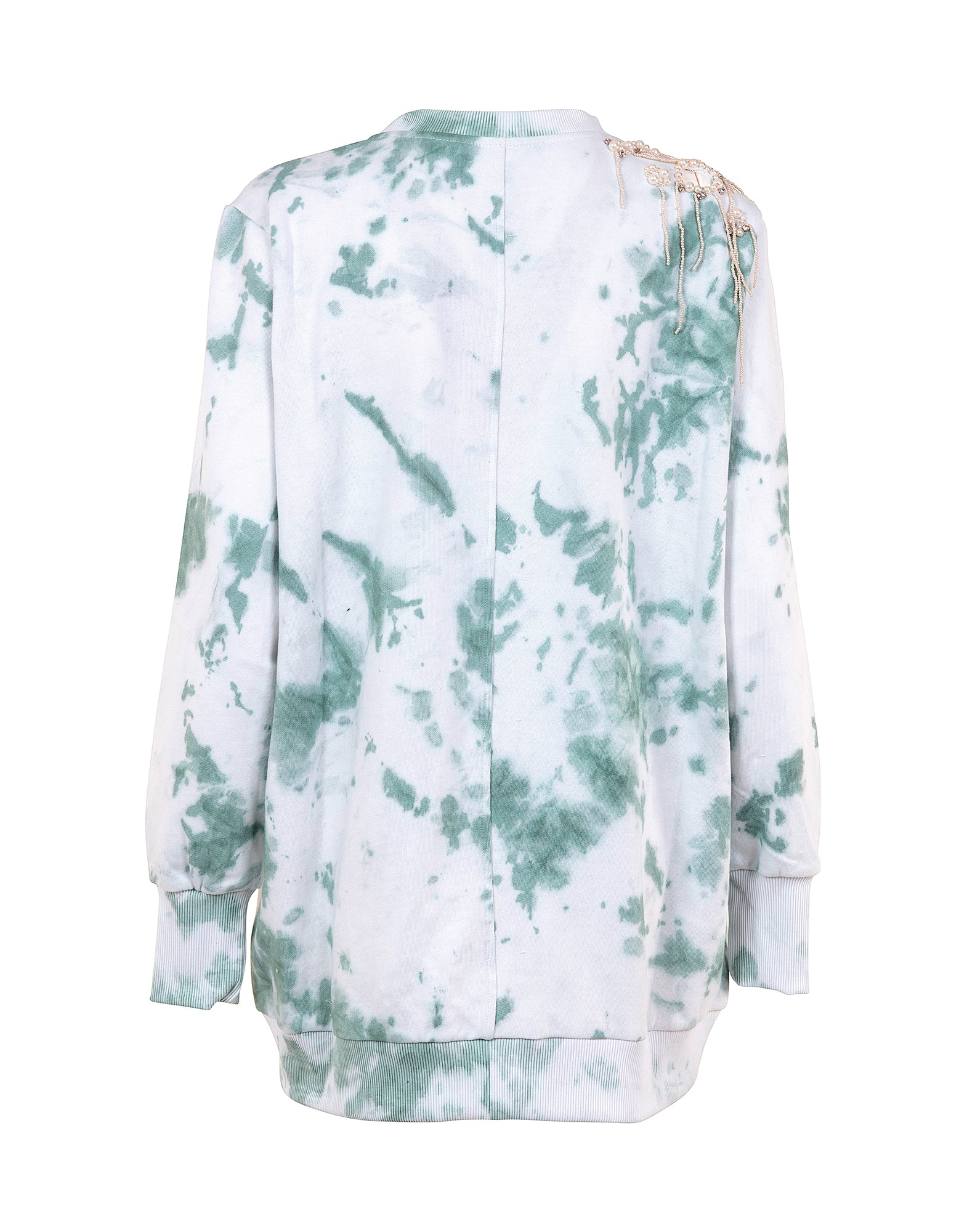Embroidered tie-dye sweatshirt - NEW COLLECTION