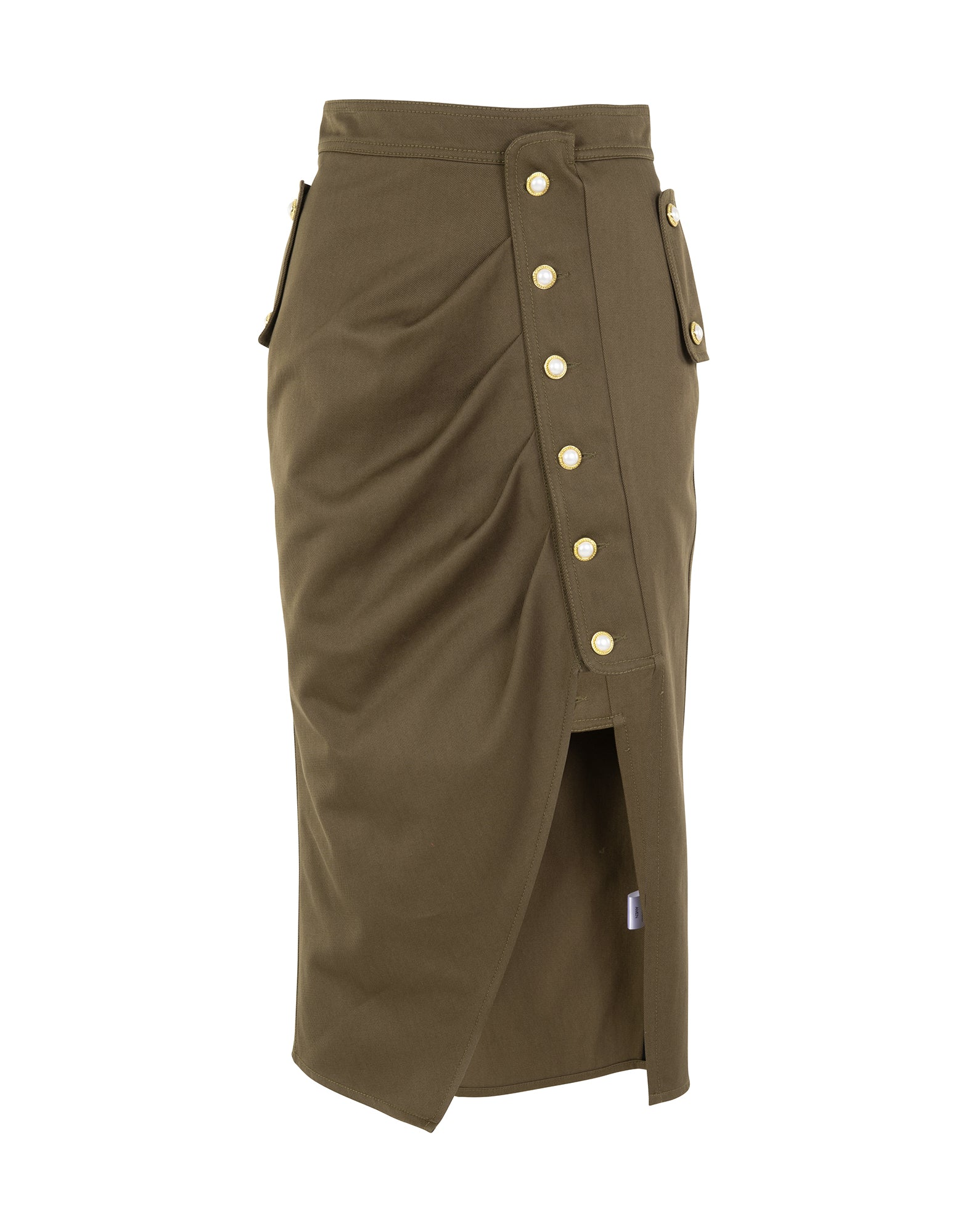 Midi skirt in canvas