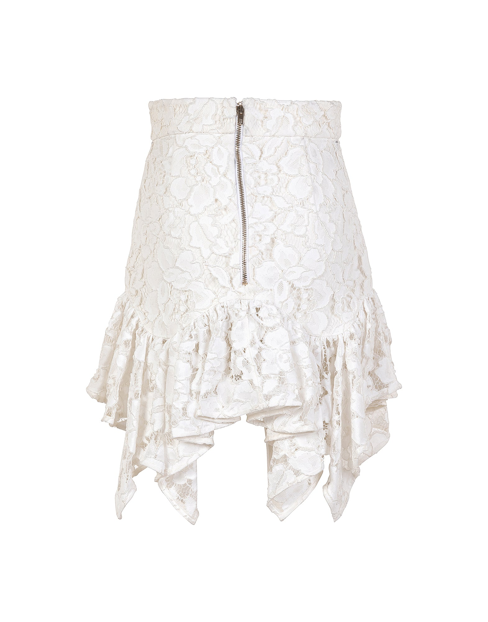 Mini skirt in lace
