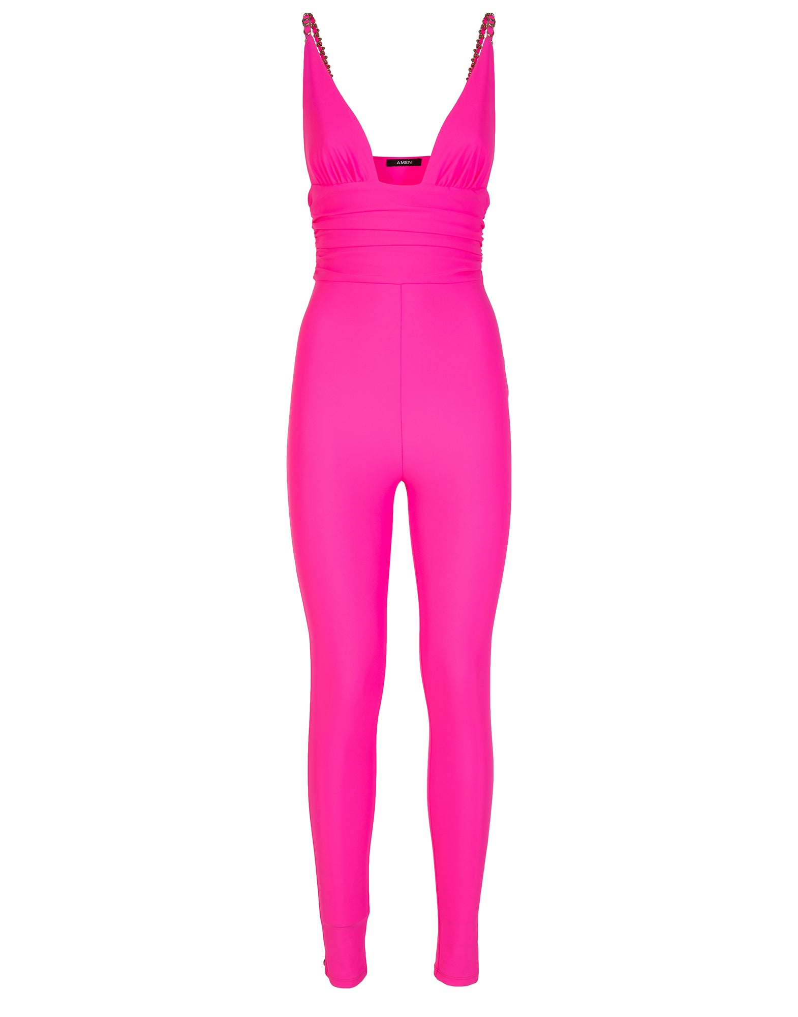 Pink fluo lycra jumpsuit - NEW COLLECTION