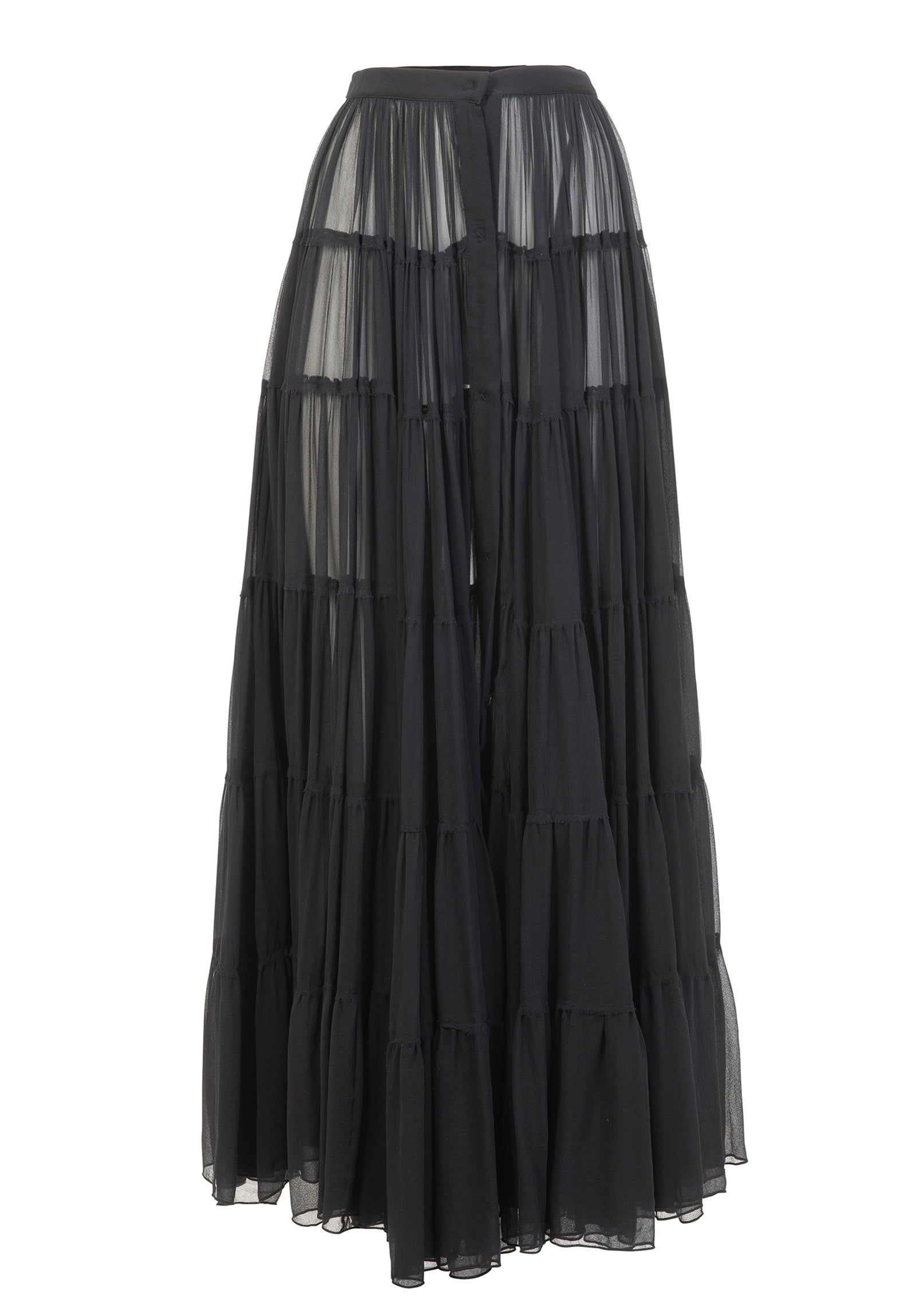 Black tiered maxi skirt - NEW COLLECTION