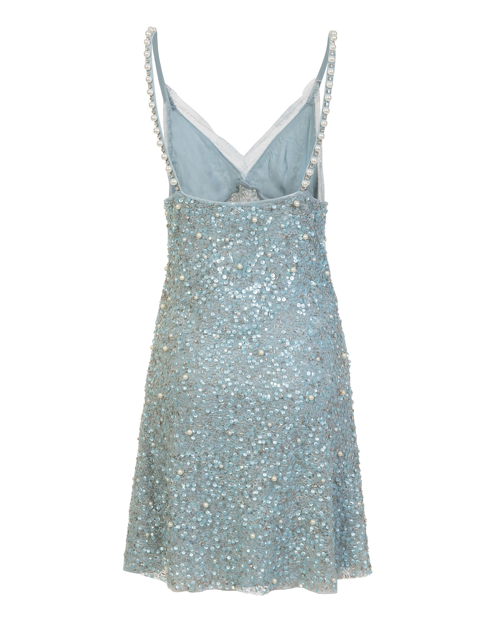 Sequins and lace slip dress - NEW IN