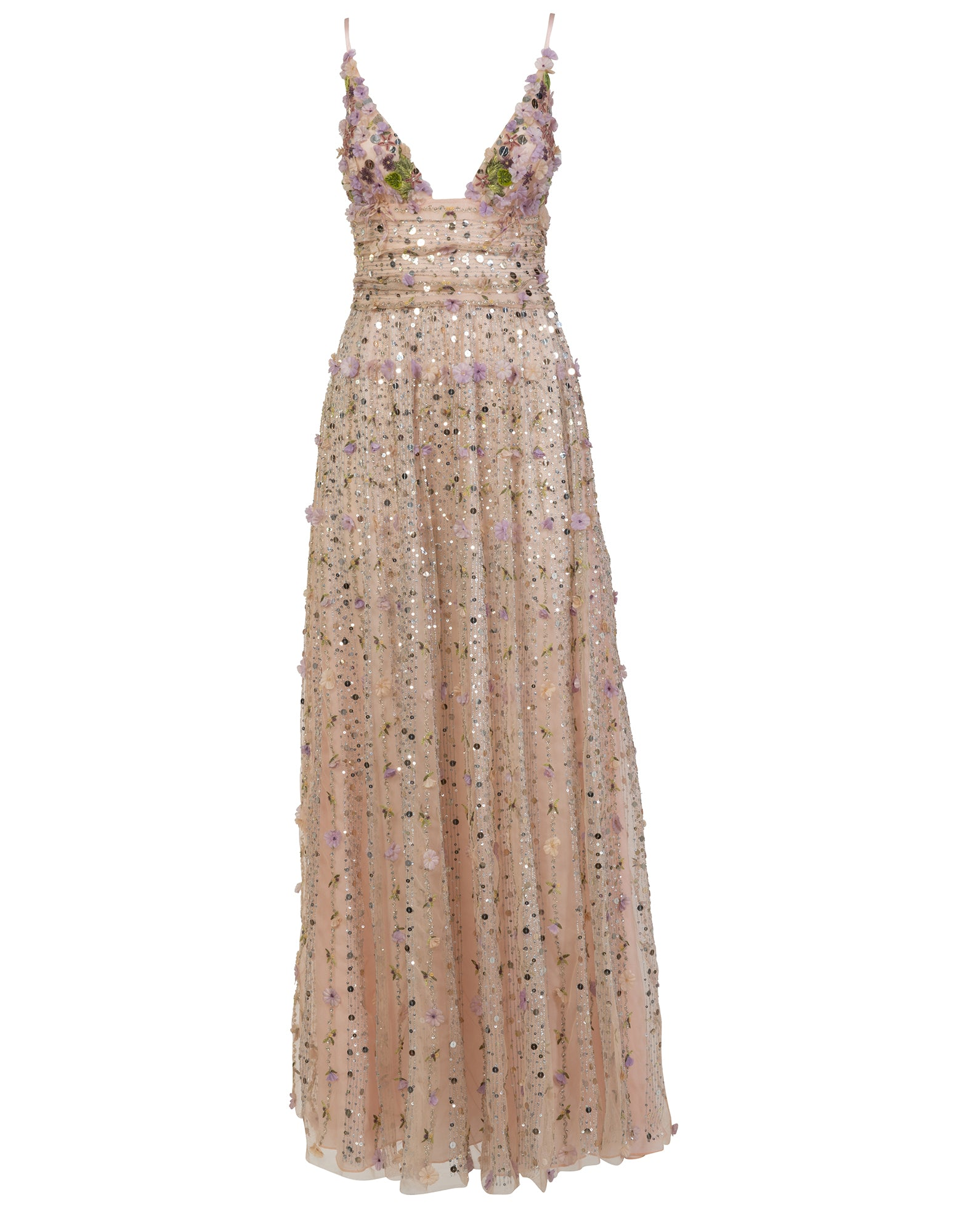 Long dress with embroidery - NEW IN