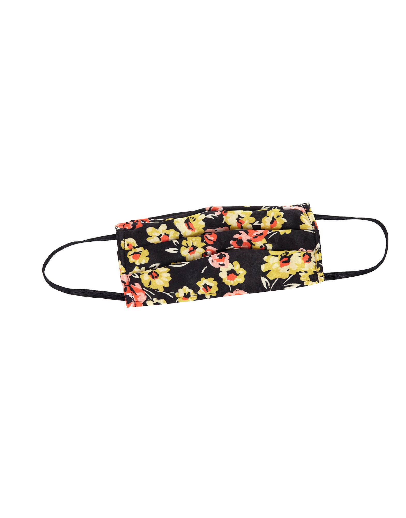 Flower print lace face mask