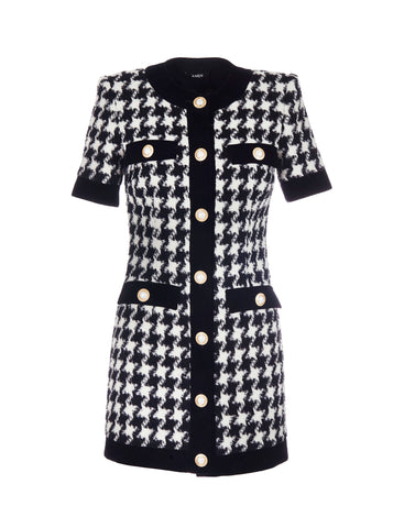 Houndstooth print dress - BACK IN STOCK
