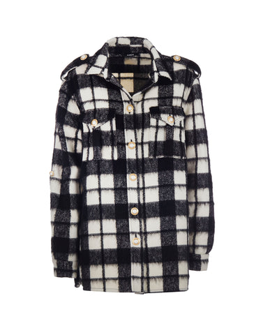 Checked oversized shirt
