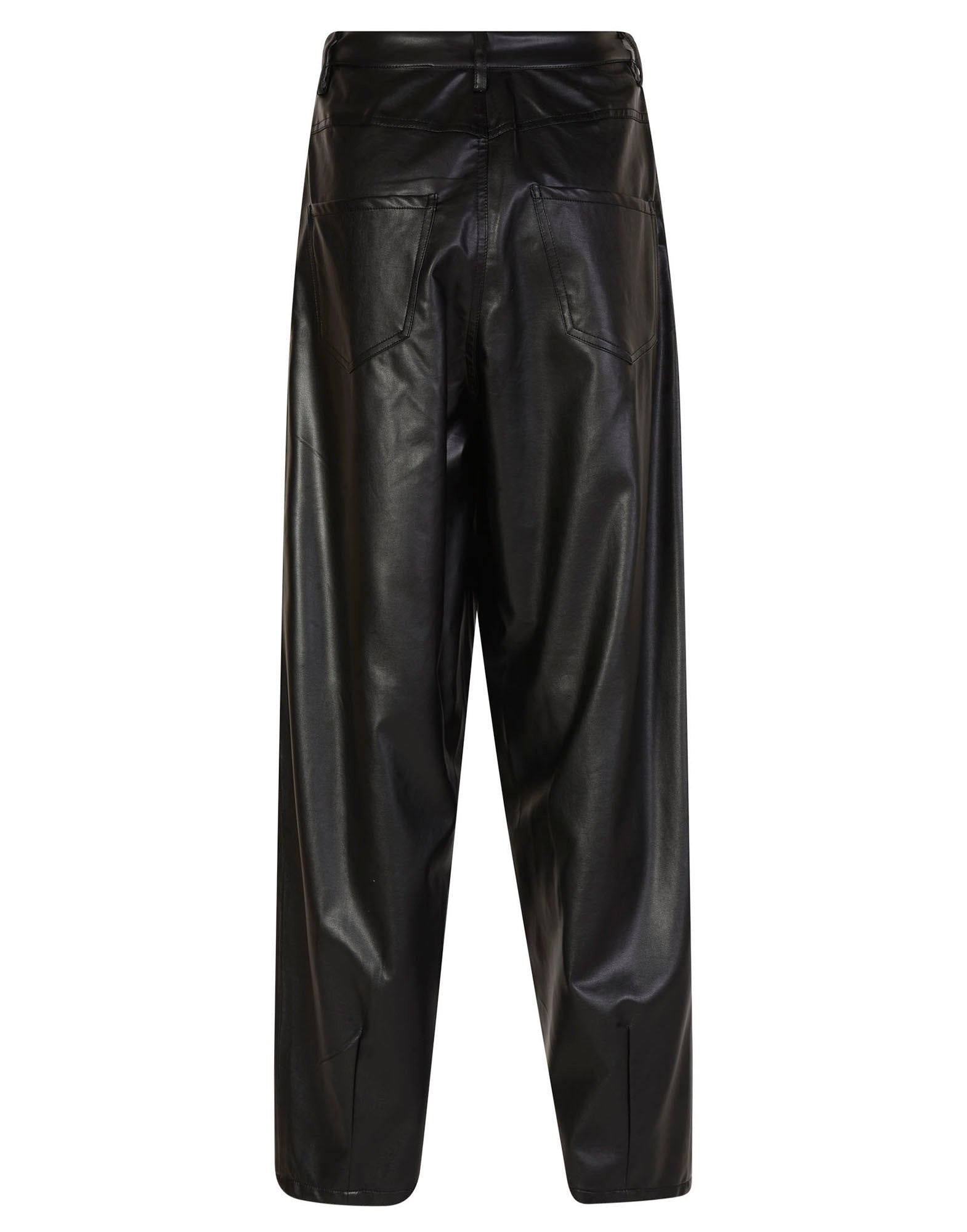 Faux-leather trousers - NEW IN