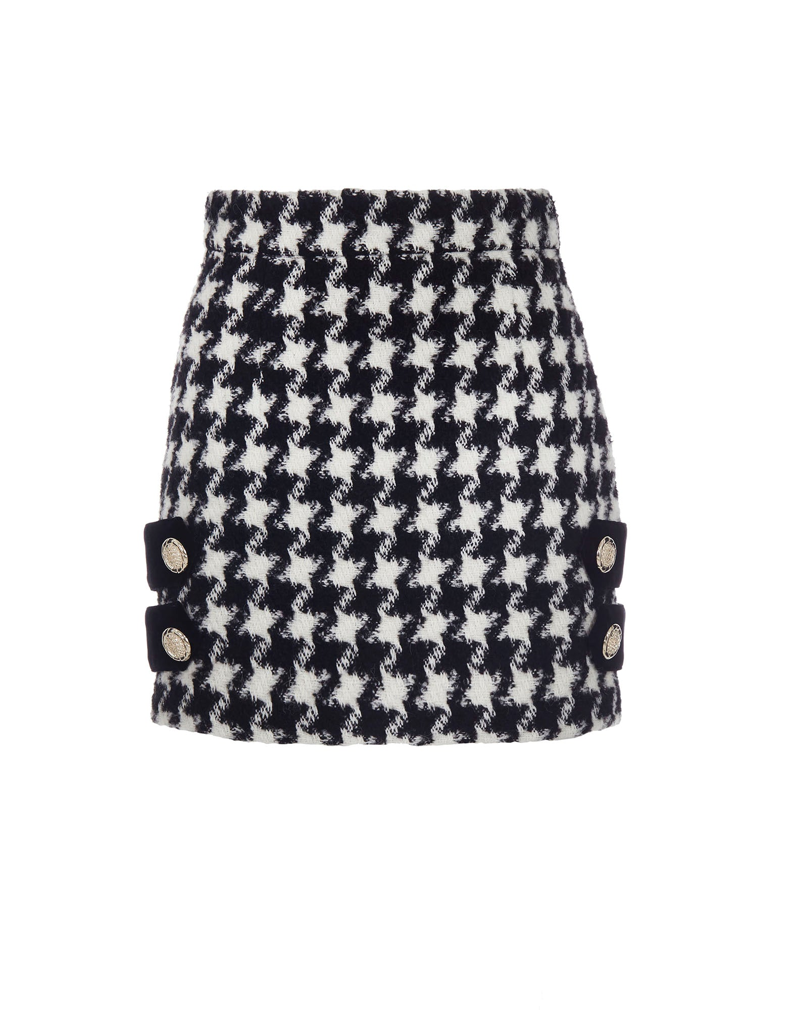 Houndstooth print skirt - NEW IN