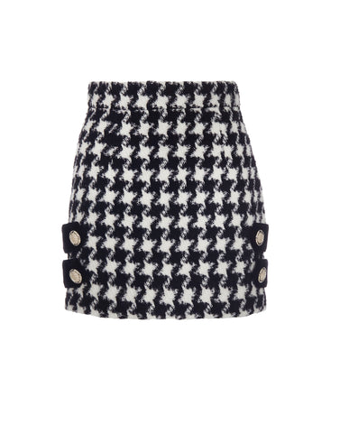 Houndstooth print skirt - NEW ARRIVALS