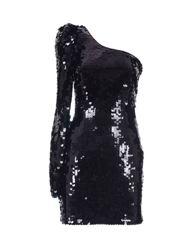 Maxi sequins one-sleeve mini dress - NEW IN