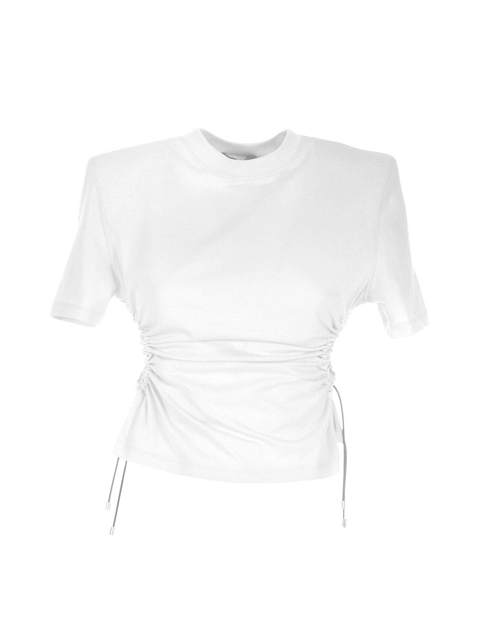 White drawstring cotton t-Shirt