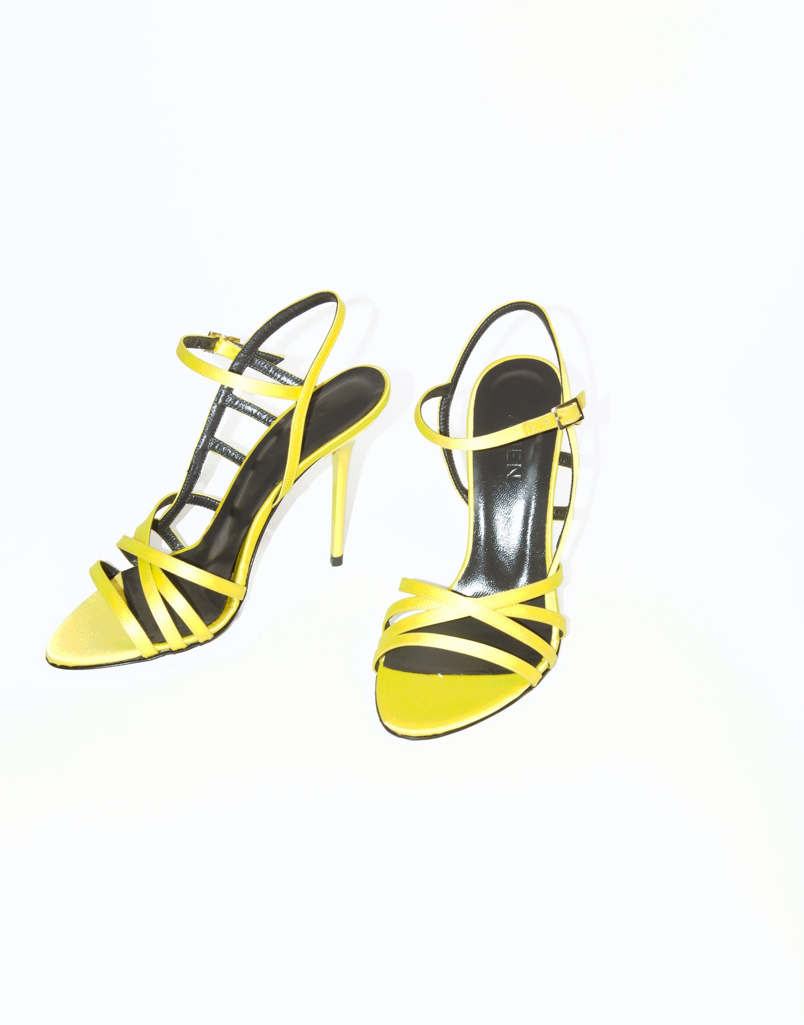 Yellow caged sandals | NEW ARRIVALS