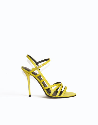 Yellow caged sandals