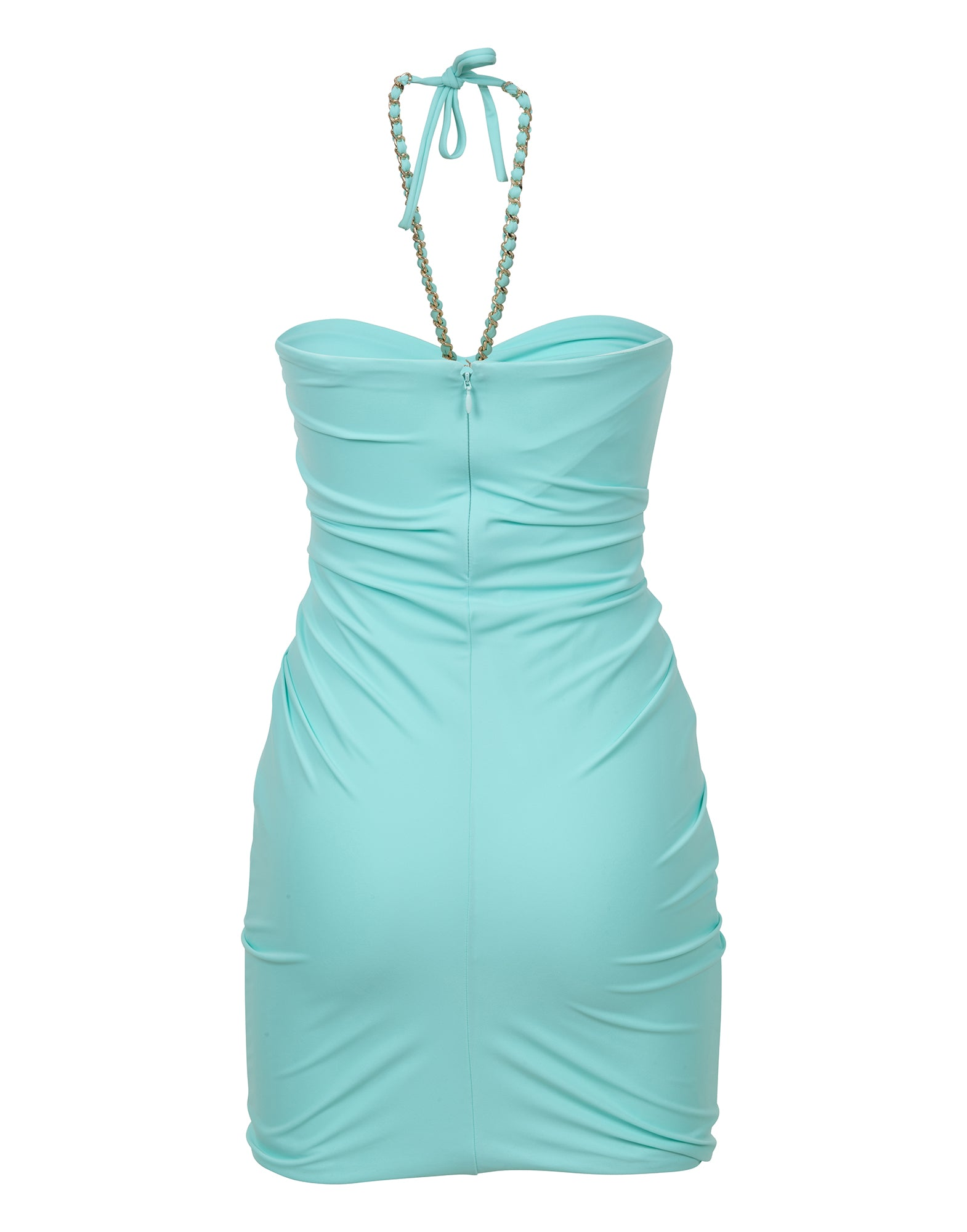 Water green halterneck mini dress - NEW COLLECTION
