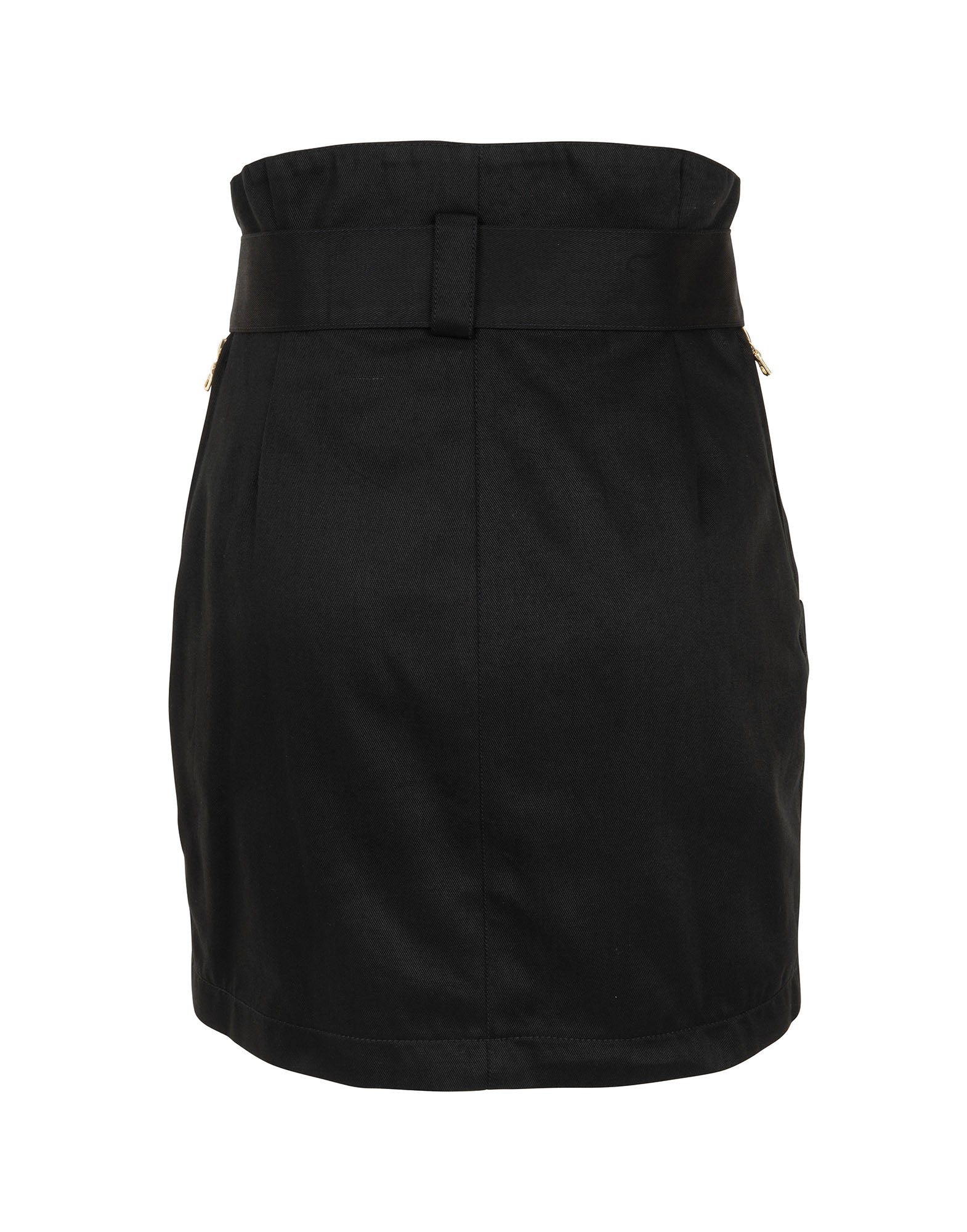 Black mini skirt in canvas - NEW COLLECTION