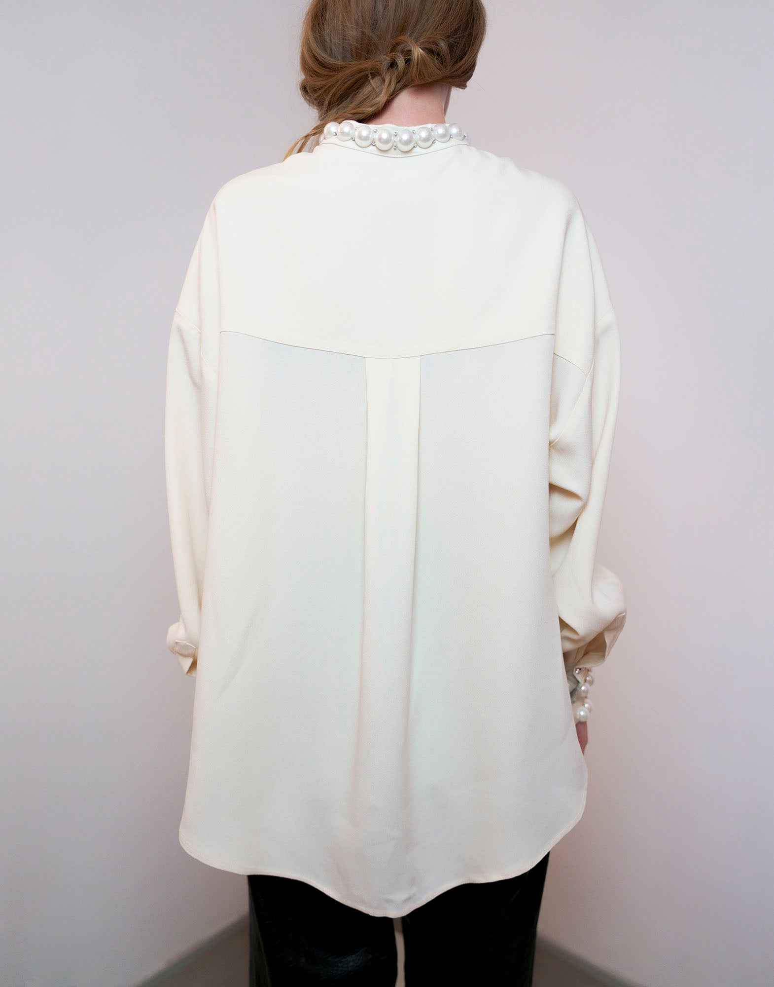 White mandarin collar shirt - NEW IN