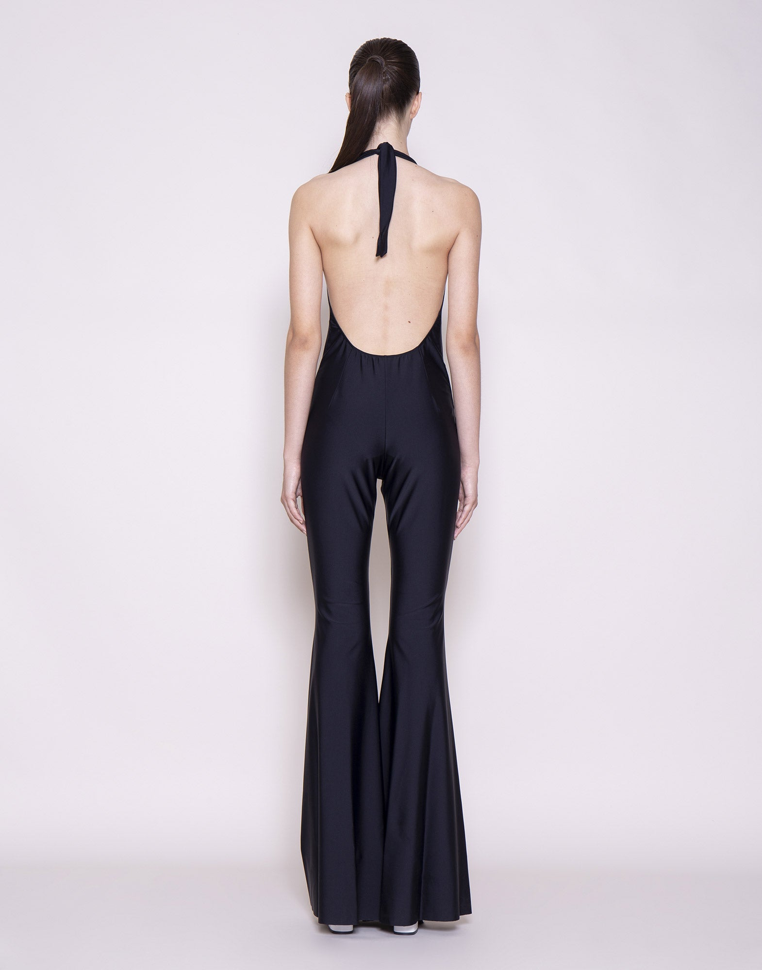 Black flared jumpsuit