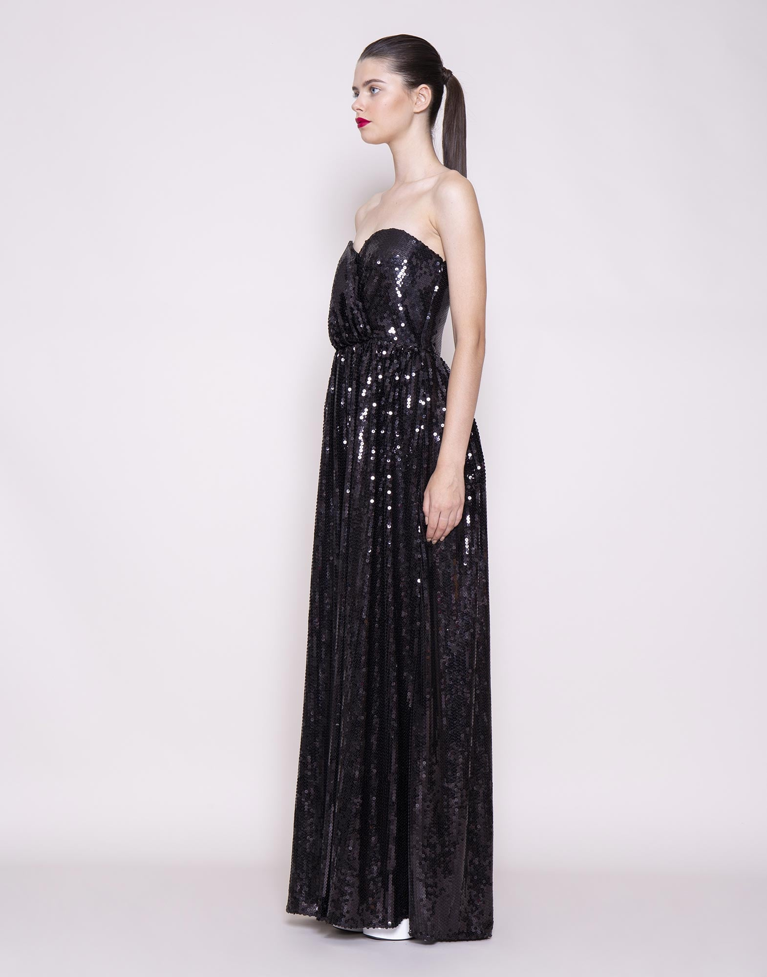 Black sequins gown