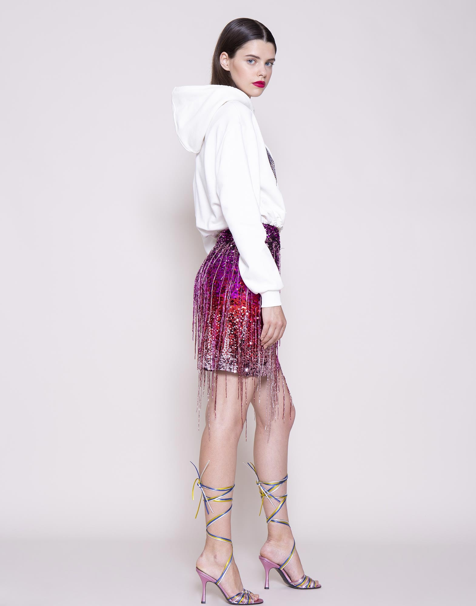 AMEN-FRINGED-PINK-SKIRT-AMS20307