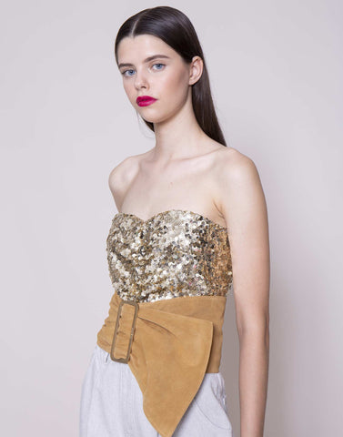 Gold sequins corset | NEW ARRIVALS