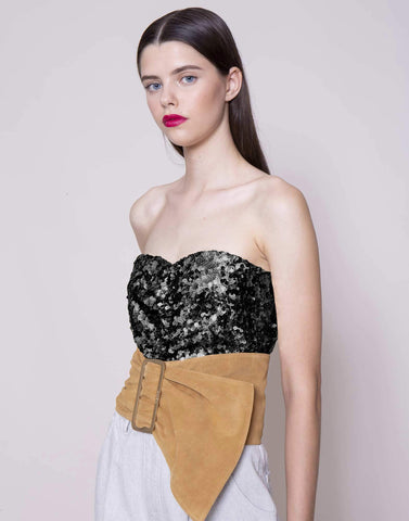 Black sequins corset | NEW ARRIVALS