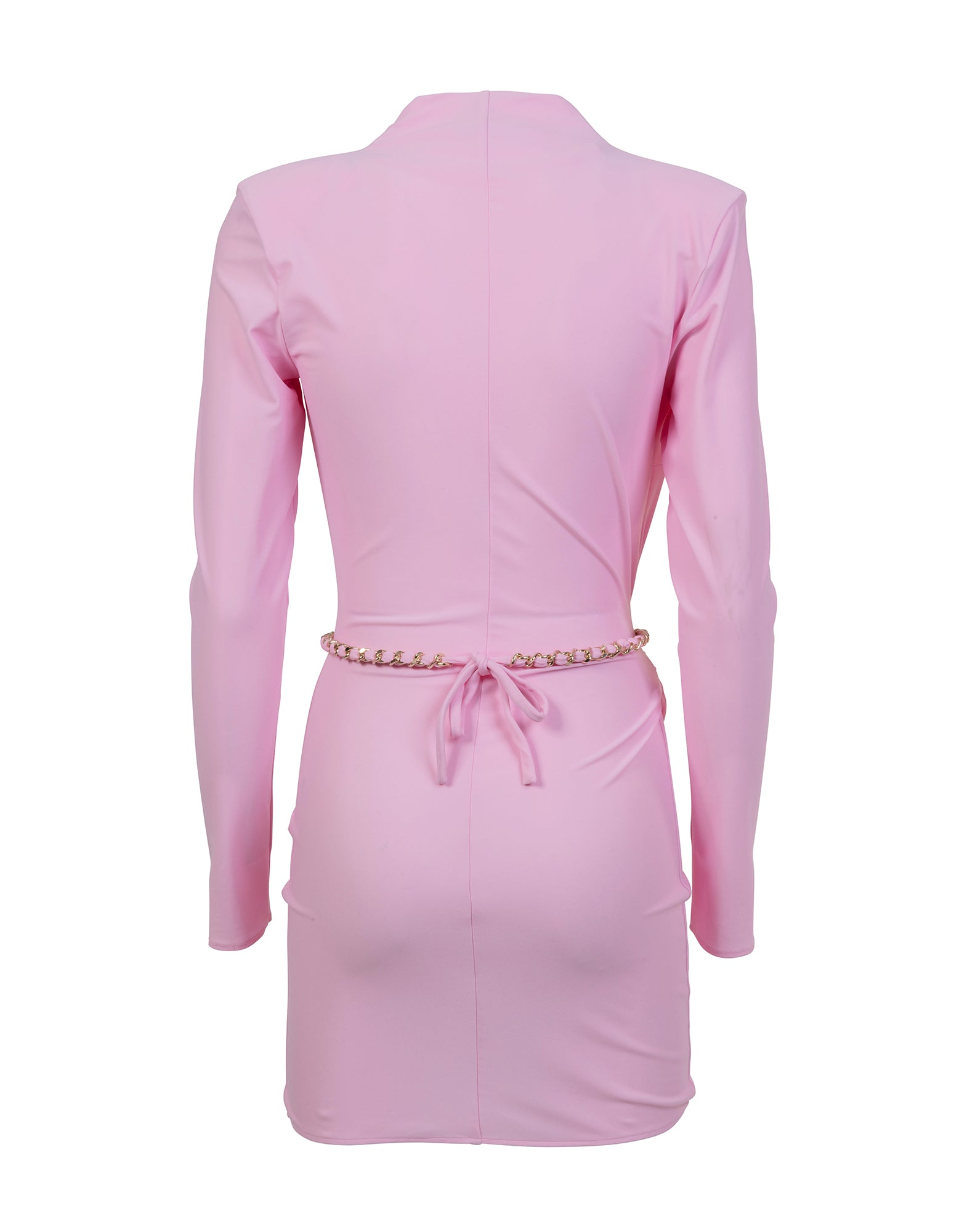 Lilac wrap around mini dress in lycra - NEW COLLECTION