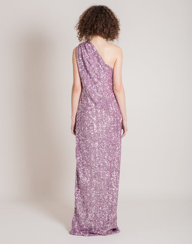 Purple sequins gown