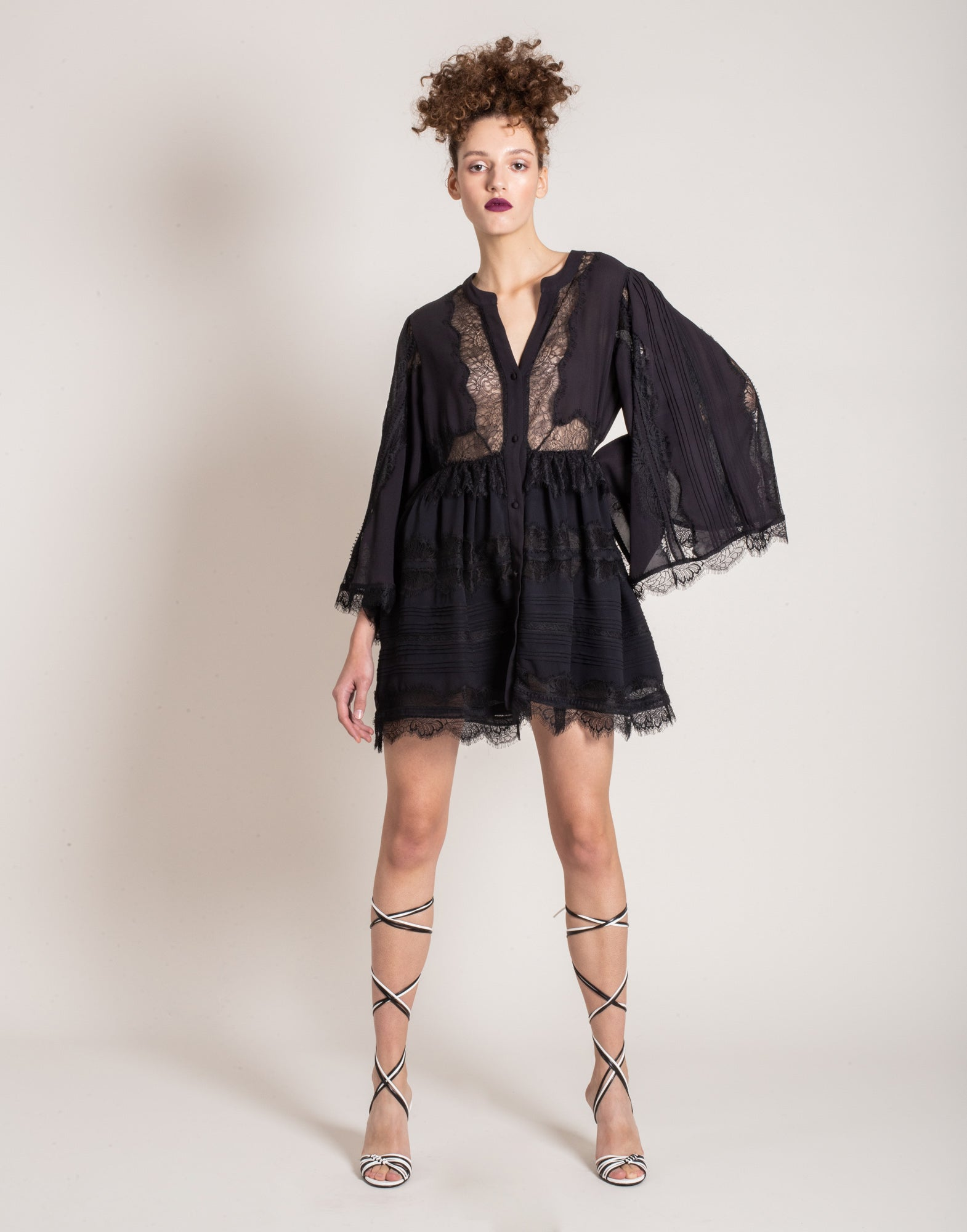Black lace shirt dress | NEW ARRIVALS