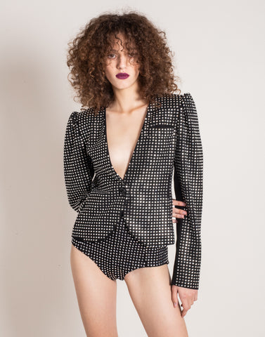Black blazer with strass | NEW ARRIVALS