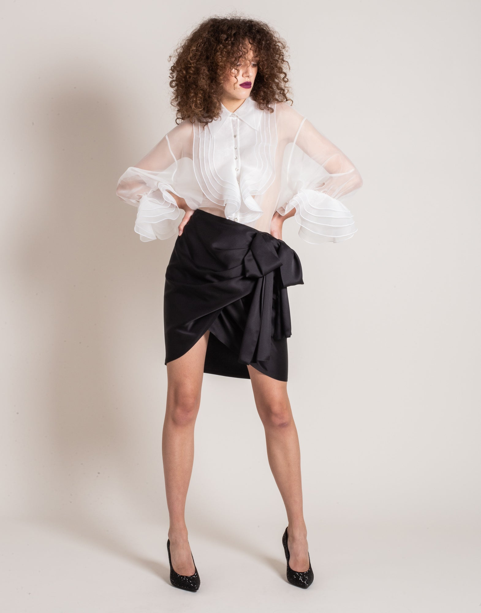 Organdy jabot blouse
