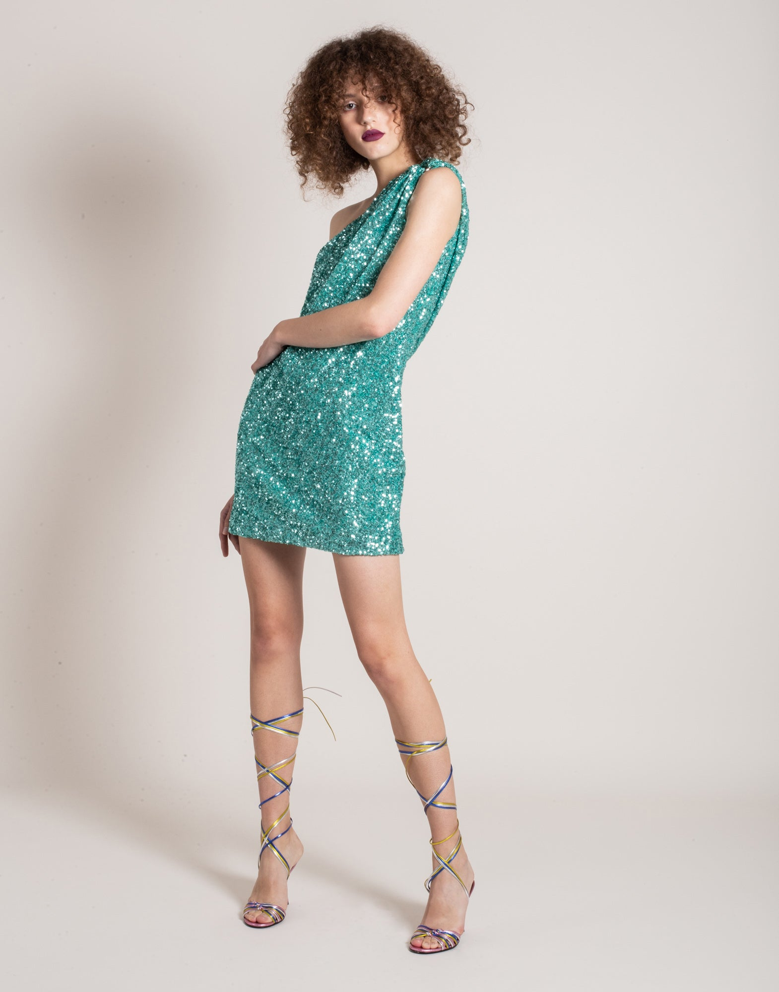 Turquoise sequins dress | NEW ARRIVALS