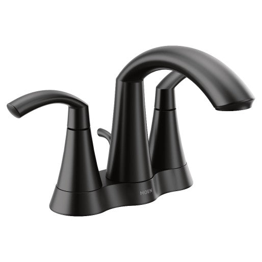 Glyde Matte Black Two-Handle High Arc Bathroom Faucet